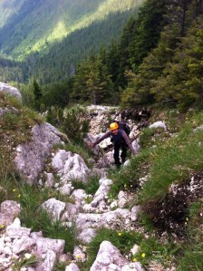(02) Urcand pe valcelul Cabanierului - eu